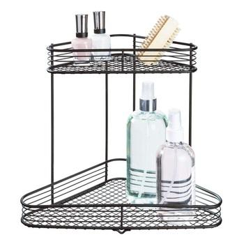 2层整理架,用于厨房用具的金属台面架子金属丝架储物架,浴室化妆品,香料办公室等
