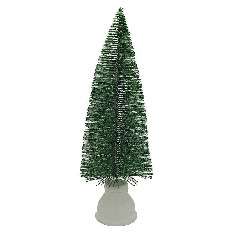 定制办公桌迷你下雪的圣诞树圣诞节装饰松针树