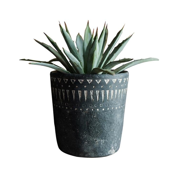 仿古植物花盆装饰水泥花盆,用于植物,多肉植物,仙人掌,花卉,草与乡村风格的图案