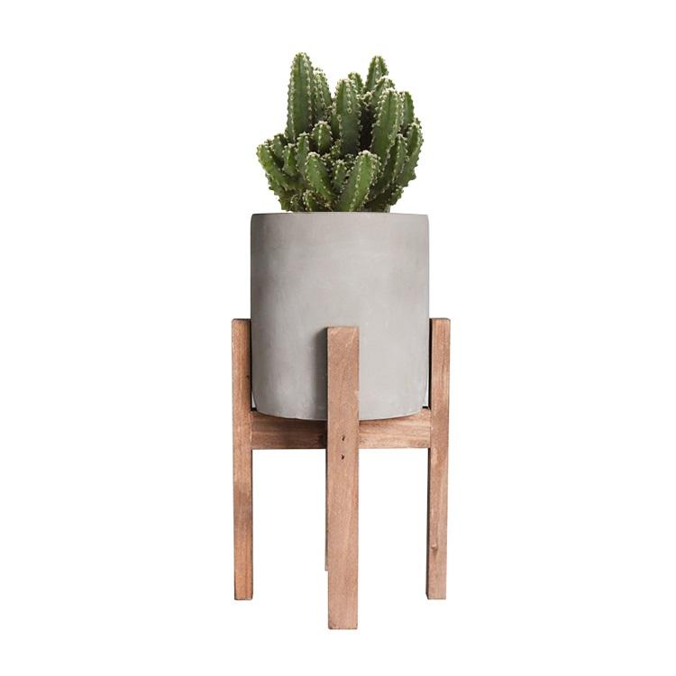 乡村风格的水泥水泥花坛花盆,用于植物,多肉植物,仙人掌木脚架