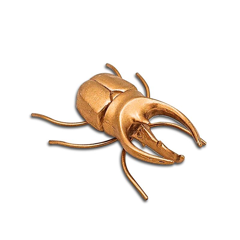金色树脂甲虫雕塑昆虫雕像,用于家庭和桌面装饰