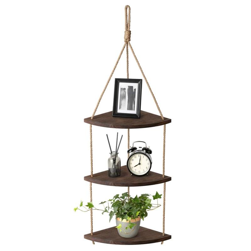 木制批发挂墙仿古架,用于卧室,客厅,花盆